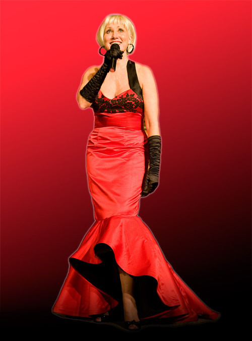 Linda Lee Michelet in a Red Dress